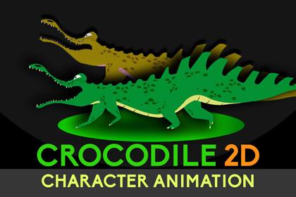 Animated 2D Crocodile