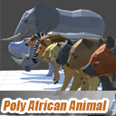 Poly African Animals