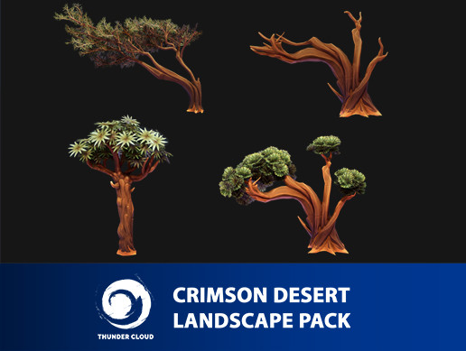 Crimson Desert Landscape Medium Tree pack