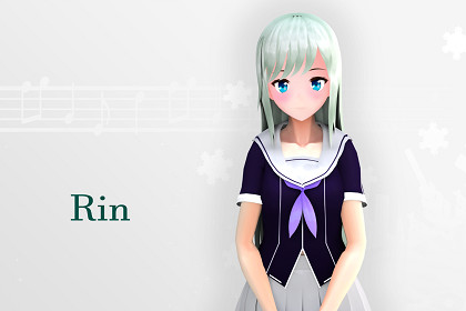 Rin New: Anime-Style Character For Games And VRChat