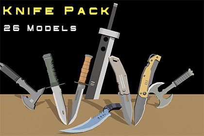 Low Poly Knife Pack