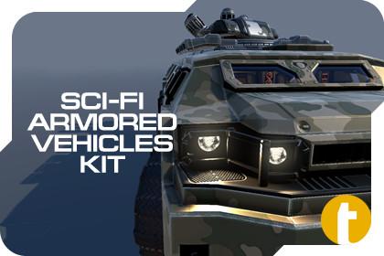 Sci-Fi Armored Vehicles Kit