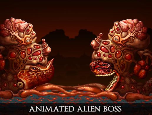2D Animated Alien Boss