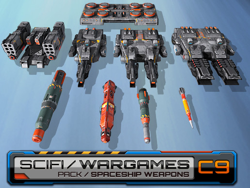 SF Spaceships Weapons C9 / Pack