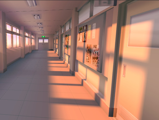 """Hallway Of The Japanese School"" Model"