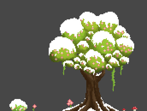2D Pixel Tree Asset Pack