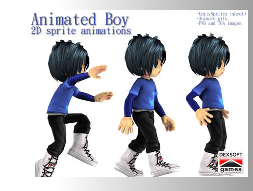 Animated Boy 2D character - Asset Store