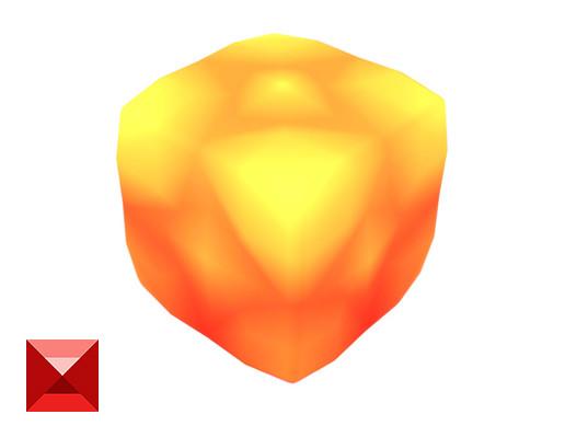 Cube World Lava Block 1 - Smashy Craft Series