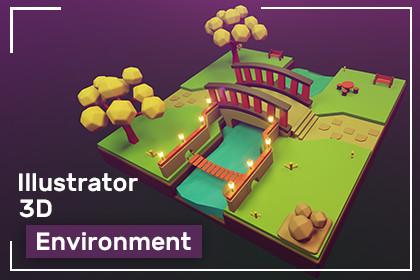 3d illustrator Environment Prototype Model