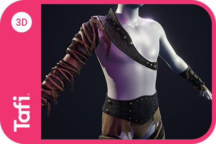 Badlands Gladiator Outfit Male from Tafi