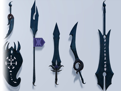 Obsidian Weapon Set - Asset Store