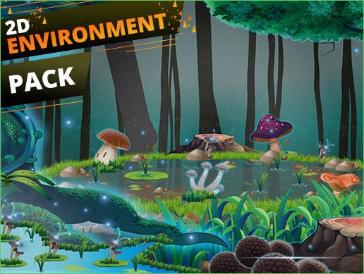 Forest 2D Sprites Enviroments