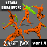 Powerful Sword Pack(Great Sword + Katana)
