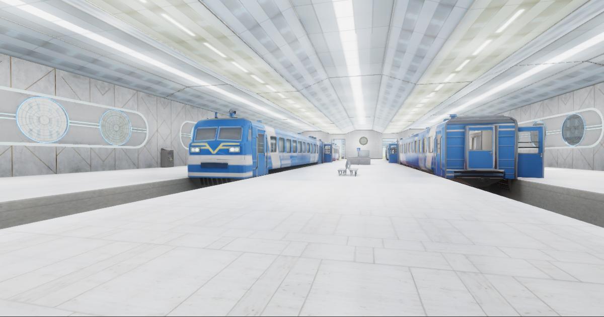 Modern Train Station 02