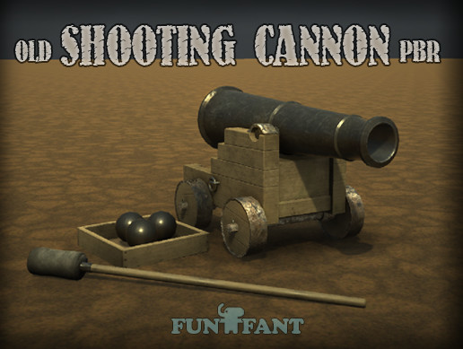 Shooting Old Cannon PBR