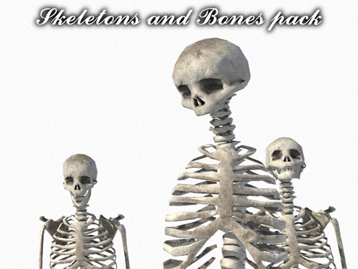 Skeletons and bones pack