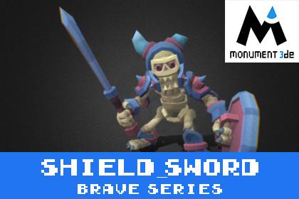 Catacomb Skeleton Shield&Sword - Brave Series