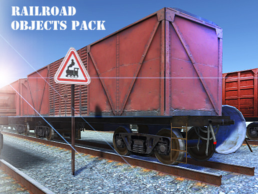 Rail Road Objects Pack