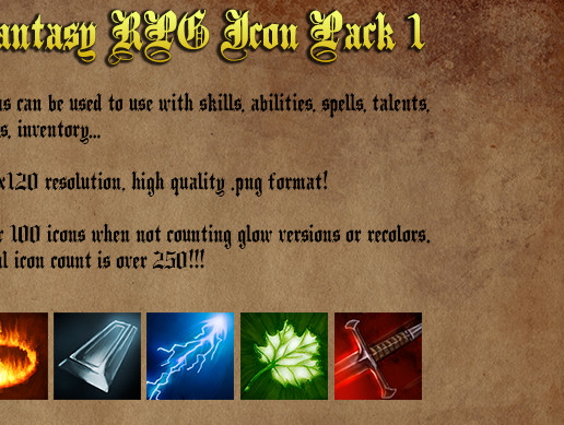 Fantasy RPG Icon Pack 1