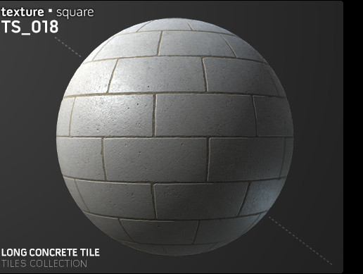 TS 018 Long Concrete Tiles