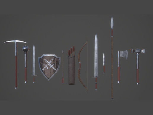Pack of Simple Medieval Weapons