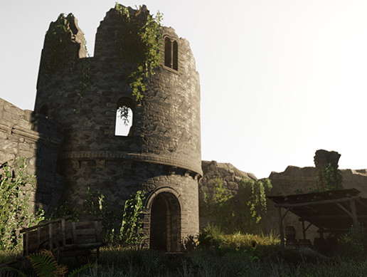 Castle Ruins Environment - PBR Medieval Props and Vegetation