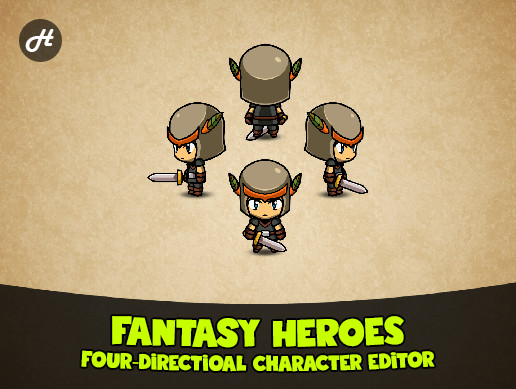 Fantasy Heroes: 4-Directional Character Editor [BETA]