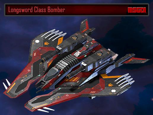 Scifi Bomber Longsword