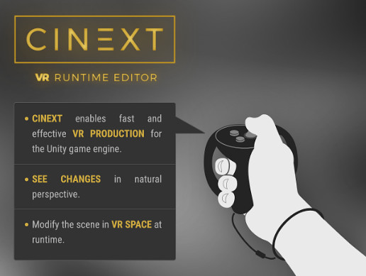 Cinext VR Runtime Editor - Asset Store