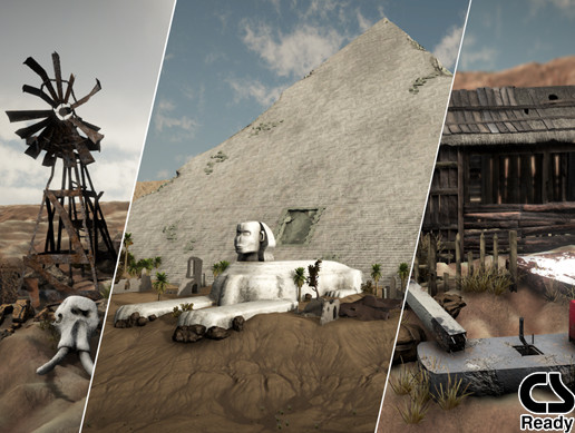 Desert Props Mega Pack Vol 1