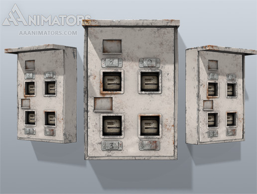 Low Poly Electricity Box 02