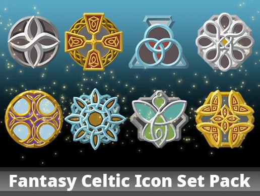 Fantasy Celtic Icon Set Pack