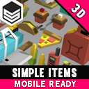 Simple Items - Cartoon Assets