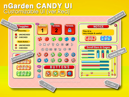 nGarden Candy UI (Red)