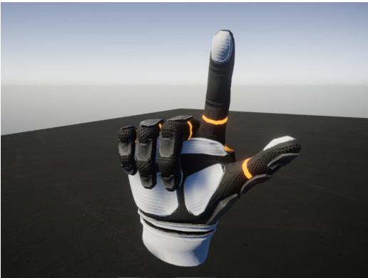 Sci-Fi VR hand
