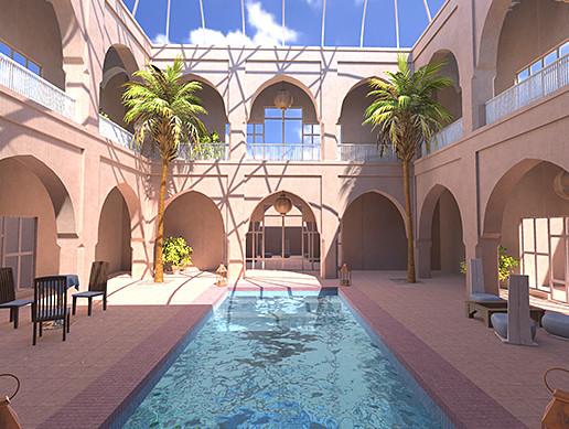 Hotel Atrium Interior