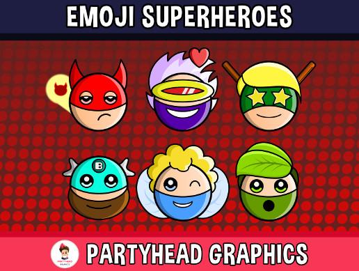 Emoji Emotion Faces Superheroes