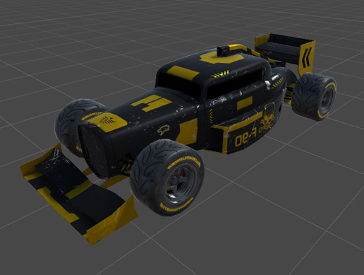 Race game car, Hot Rod concept (Low Poly)