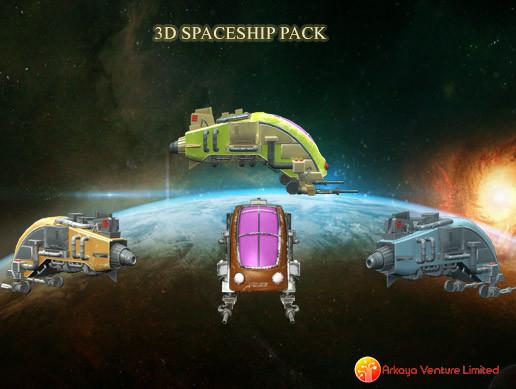 3D Spaceship Pack Vol 04
