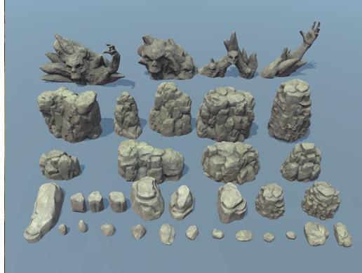 Rocks and fantasy stones