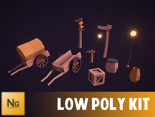 FantasyTownObjects LowPoly
