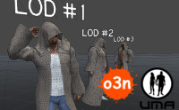 LOD Slots for o3n Male Hooded Robe