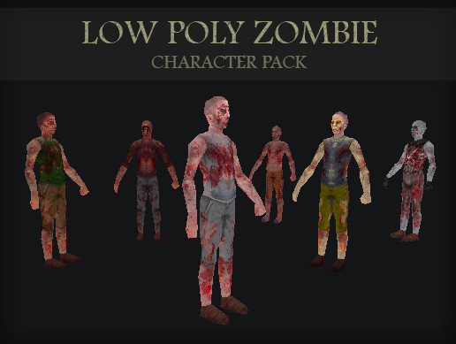 Low Poly Zombie Character Pack