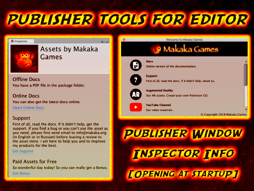 Publisher Window   Welcome Screen   Asset Store Tools