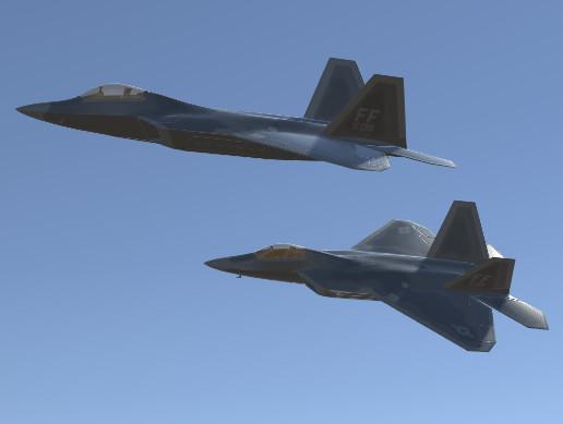 Jet Fighter Aircraft F-22 Raptor