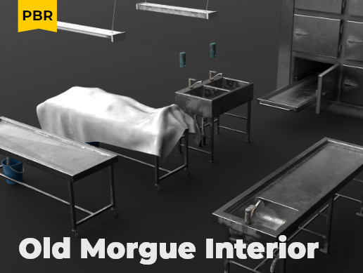 Old Morgue Interior Props Pack