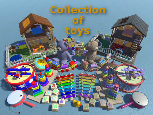 3D Collection of toys
