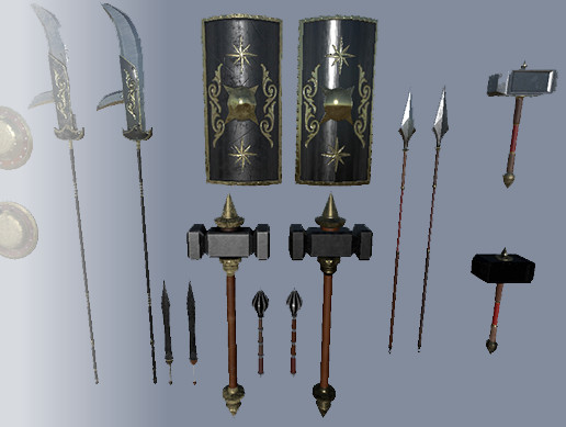 PBR Gladiator Weapon Pack | 3D Weapons | Unity Asset Store