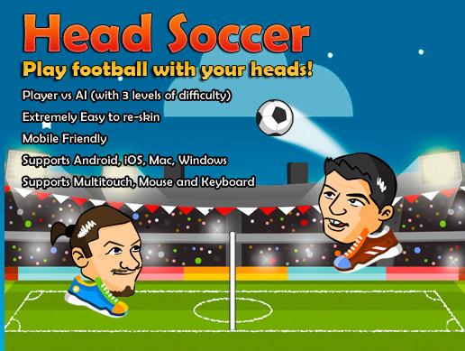 پروژه کامل یونیتی Head Soccer Game Kit