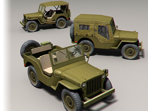 Old Military Jeep Pack